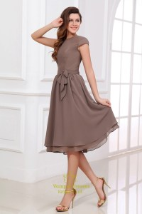 Brown Bridesmaid Dresses With Sleeves,Coffee Coloured ...