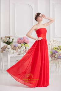 Long Red Strapless Formal Dress Gown 2016 | Vampal Dresses