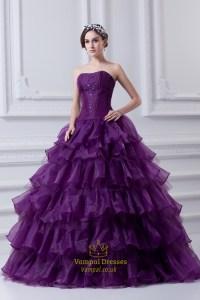 Purple Ball Gown Quinceanera Dresses,Purple Flowy ...