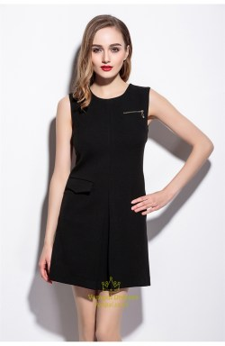 Piquant Casual Black Short Sleeveless Dress Casual Black Short Sleeveless Dress Vampal Black Dress Black Dress Pattern Wow