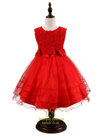 White A Line Short Flower Girl Dresses With Beading And ...