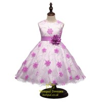 Pink A Line Princess Knee Length Flower Girl Dress With ...