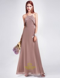 Spaghetti Strap A-Line Floor Length Chiffon Prom Dress ...