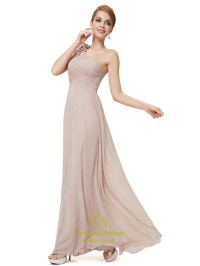 Long Blush Pink Bridesmaid Dresses One Shoulder,One ...