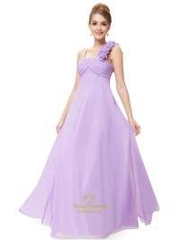 Lavender Chiffon One Shoulder Bridesmaid Dresses Long,One ...
