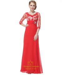 Mother Of The Bride Red Dresses - Junoir Bridesmaid Dresses