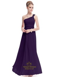 One Shoulder Purple Bridesmaid Dresses | www.imgkid.com ...