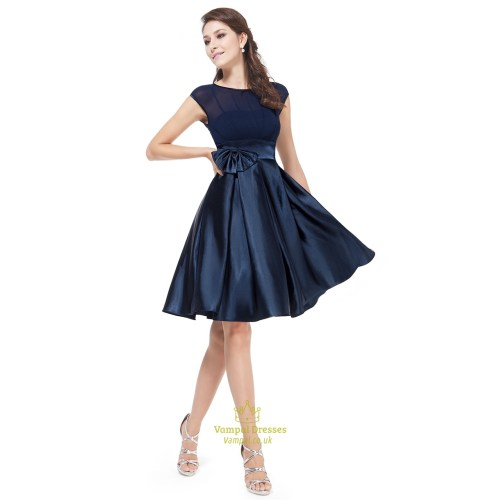 Medium Crop Of Navy Blue Cocktail Dress