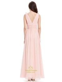 Light Pink Bridesmaid Dresses Chiffon - Wedding Dresses Asian