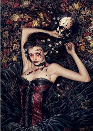 skull-girl-by-victoria-frances