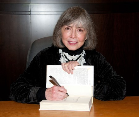 "LOS ANGELES, CA - FEBRUARY 17:  Writer Anne Rice signs copies of her book ""The Wolf Gift"" at Barnes & Noble bookstore at The Grove on February 17, 2012 in Los Angeles, California.  (Photo by Amanda Edwards/WireImage)"
