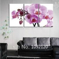 hand painted lilac flower paintings for room wall decor ...