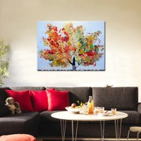 hand painted abstract tree modern oil painting on canvas ...