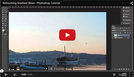 Working with Gradient Skies in Photoshop