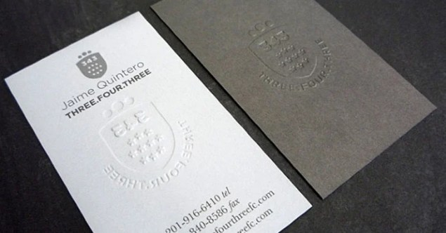 raised embossed cards
