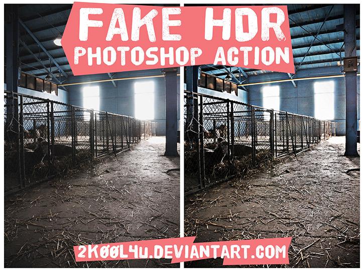 Fake HDR Photoshop Action