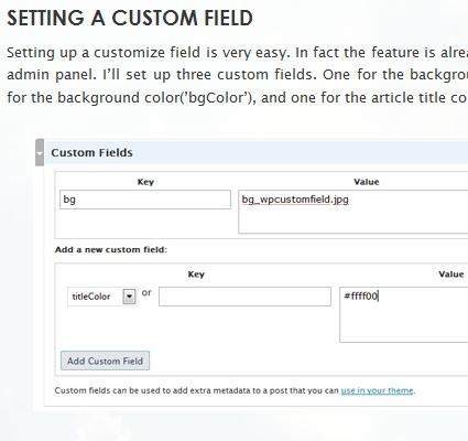 WordPress Custom Field Tutorial