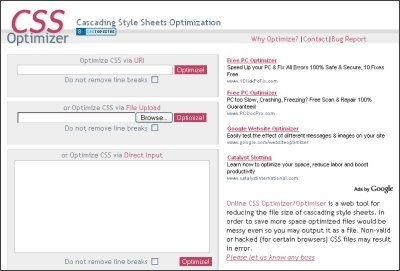 CSS Optimizer Screen Shot