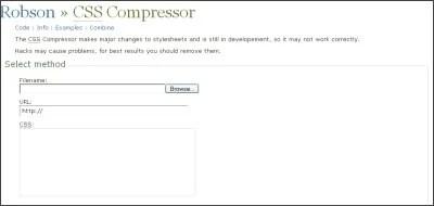 Robson CSS Compressor
