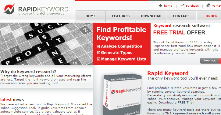 rapid keyword app