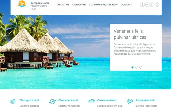 Travel Agency ResponsiveTemplate