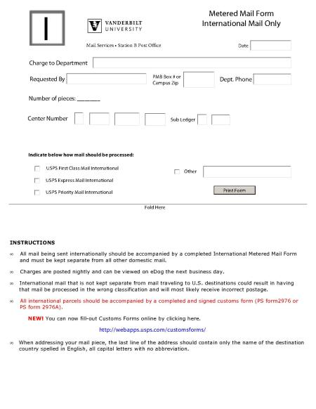 Outgoing Mail Procedures
