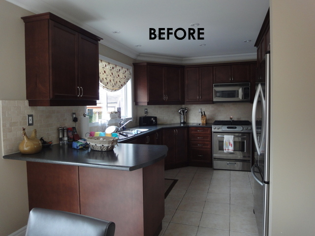 Before After A Dark And Tired Kitchen Gets A Bright