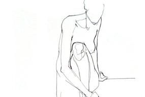 Nude line sketch