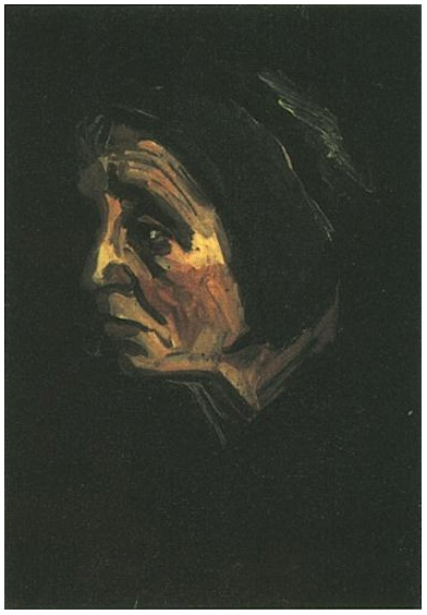 Wallpapers With Work Quotes Head Of A Peasant Woman With Dark Cap By Vincent Van Gogh