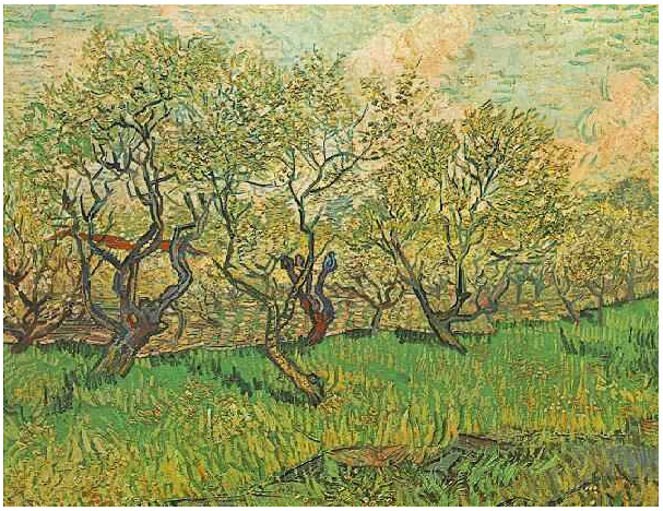 Van Gogh Starry Night Iphone Wallpaper Orchard In Blossom By Vincent Van Gogh 363 Painting