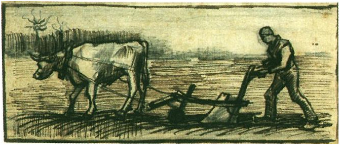 Jesus Wallpapers And Quotes Ploughman By Vincent Van Gogh 1392 Drawing Pen