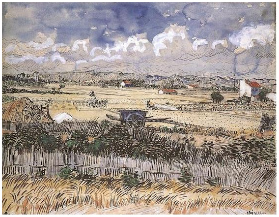 The Yellow Wallpaper Quotes About John Harvest Landscape By Vincent Van Gogh 1828 Watercolor