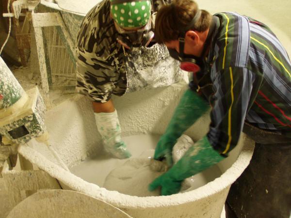 Michael nolte and Rigoberto Cruz Dipping Shell Molds