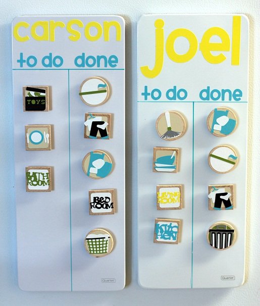 Cricut Crafts Ideas/Blog/Projects - Magnetic Weekly Chore Chart - chore chart online