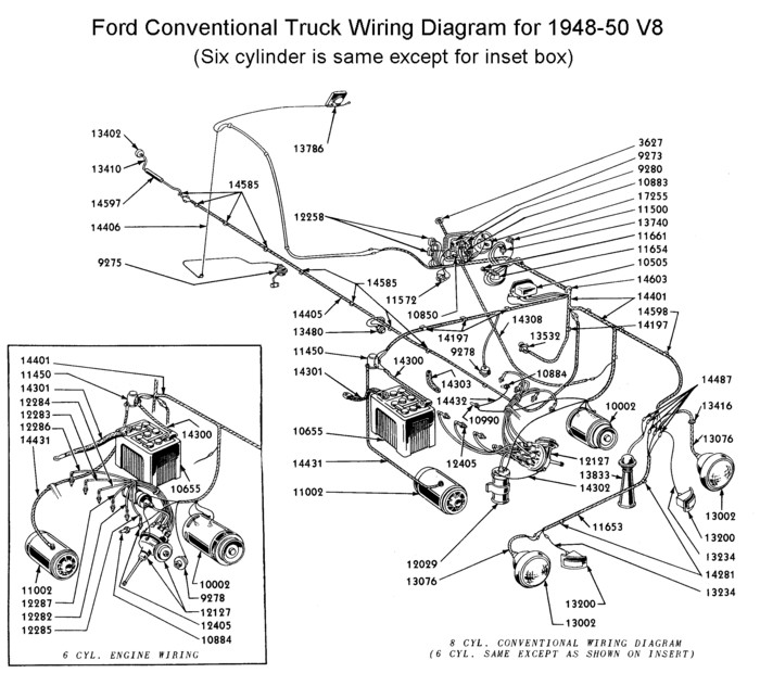 1948 ford truck horn wiring diagram
