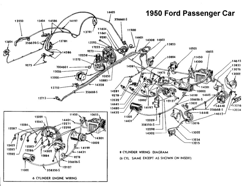 1950 ford car light switch diagram