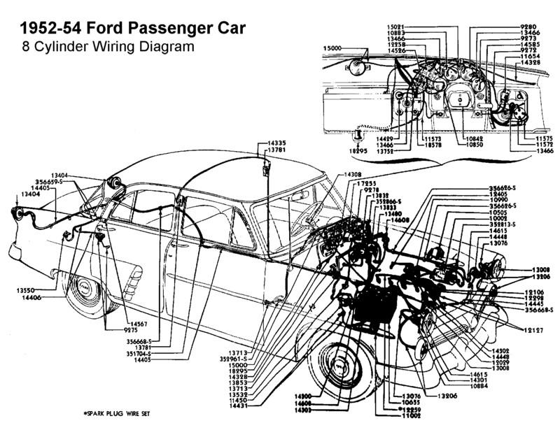 1952 ford customline wiring diagram