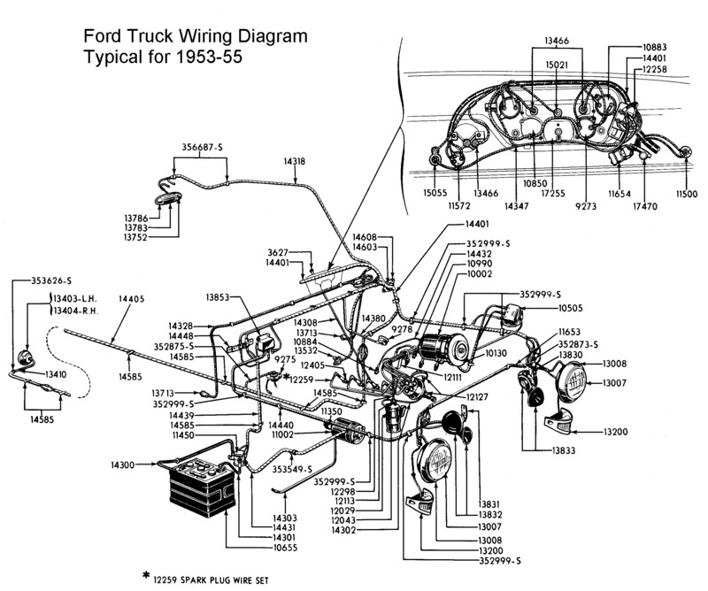 1953 ford wiring harness