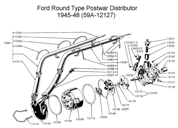 1946 ford distributor wiring