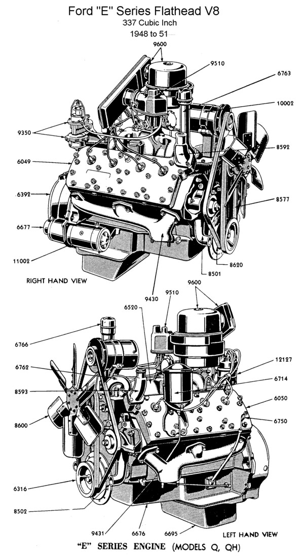 v8 engine diagram drawing