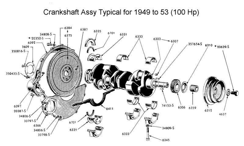 1950 ford truck part diagram