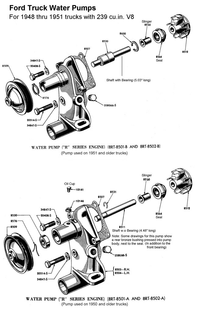 ford flathead v8 water pump