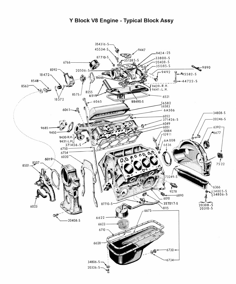 ford y block wiring diagram