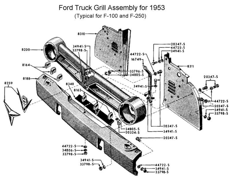 1956 ford truck parts