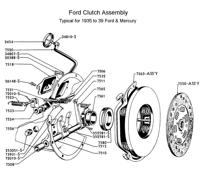 1951 chevy clutch linkage