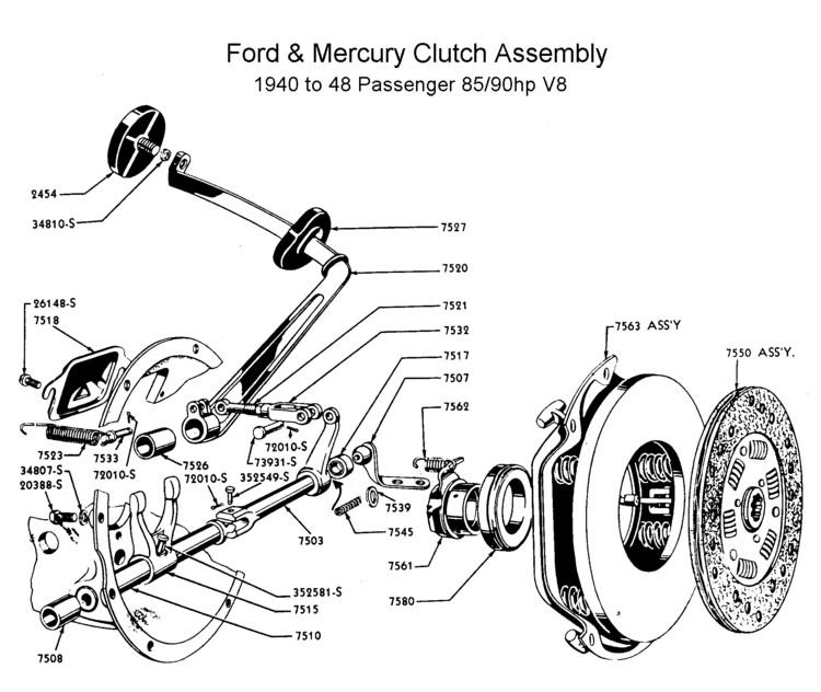 1951 mercury clutch diagram