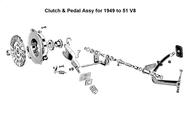 1950 chevy clutch linkage