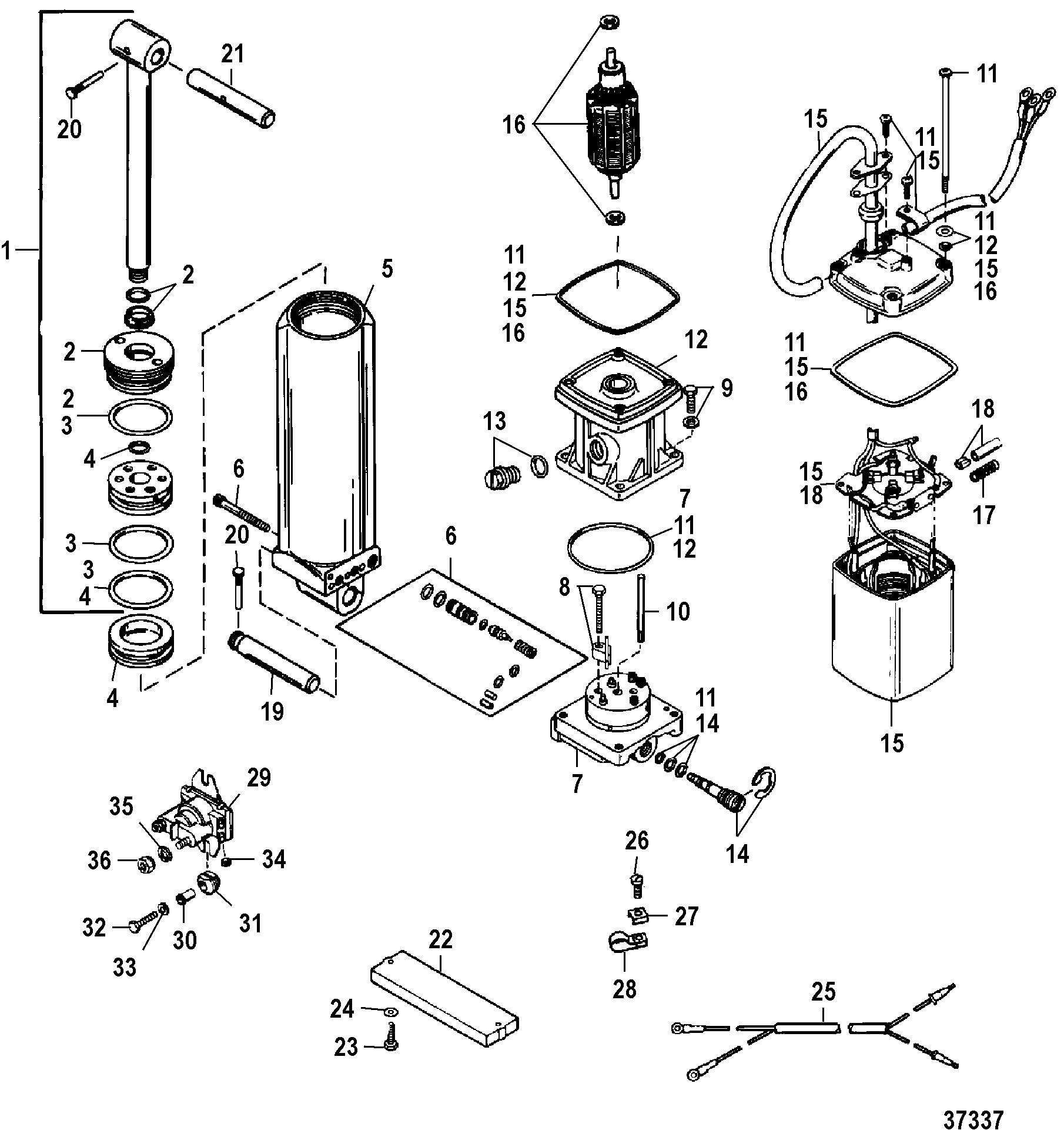 mercury outboard 9793577 thru 0p016999 fuel pump diagram and parts