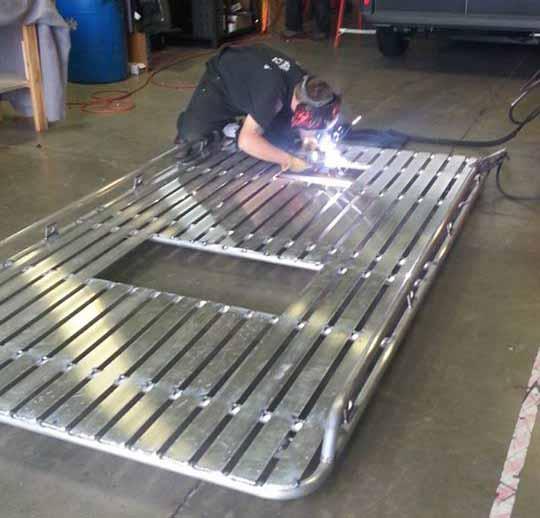 Custom Built Aluminum Roof Rack Van Specialties