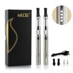 IMECIG-L1-Electronic-Cigarette-Vaping-with-LED-Battery-Rechargeable-E-Cig-Atomizer-Coil-without-E-Liquid-Juice-E-Cigarette-Starter-Kit-Vaporiser-Case-No-Nicotine-0